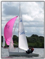 Photo 2. Pole against the forestay for a reach