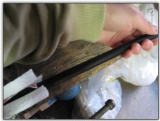 Dinghy Restoration - Straightening the tiller extension