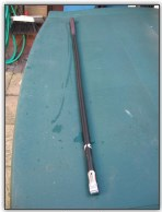 Dinghy Restoration - Straightened tiller extension