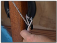 Photo 22, Figure 8 cleat the halyard