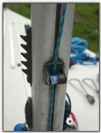 Photo 10, Spinnaker halyard cleat