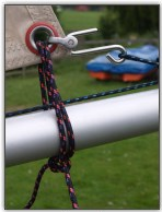 Photo 57, The clew tie down