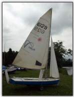 Photo 78, The completed boat (sans Spinnaker)