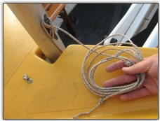 Photo 19, Cleat and coil the halyard