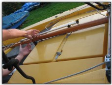 Photo 49, Secure the rudder blade in the up position
