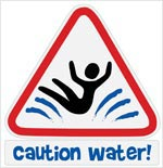 Small Caution Water Logo